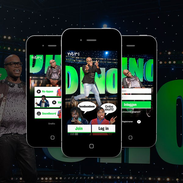 User Interface Design voor de App van de Dino Show NTR
