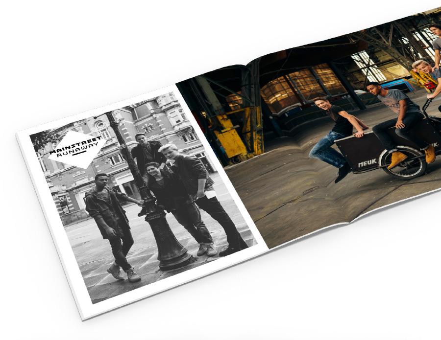 CD artwork design voor Mainstreet