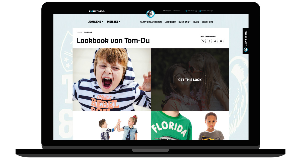 UX en UI design voor e-commerce website Tom-Du Kidsfashion